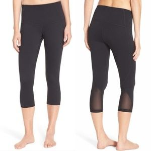 Zella Black Hatha High Waisted Crop Yoga Leggings